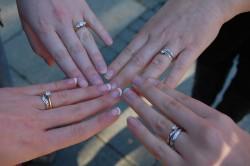 four wedding rings