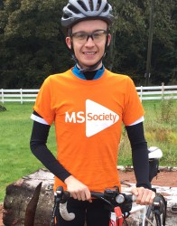Richard Sanderson cycling to raise money for the MS Society