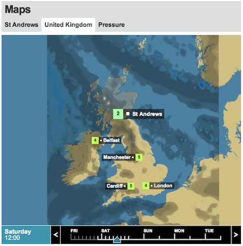 BBC UK Weather for 10th December 2011