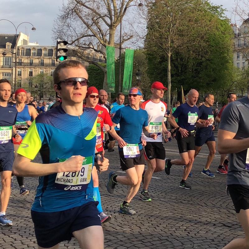Richard Sanderson just started the 2018 Paris Marathon