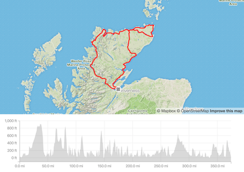 North Coast Classic audax provisional route 2019
