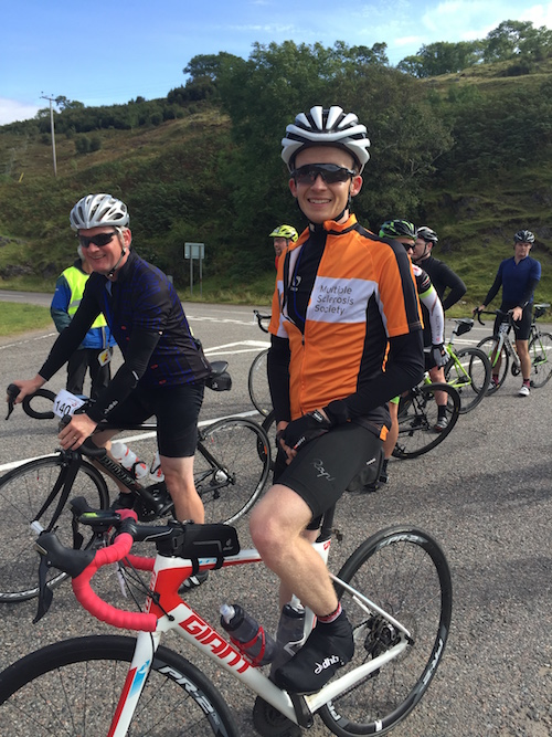 Richard Sanderson waiting to start the Bealach na Ba climb at Tornapress