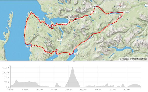 Bealach Mor 2017 route